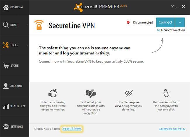 Avast secureline vpn activation code mac